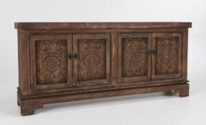 82″ Amita Misty Mocha Carved Wood Sideboard