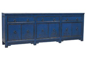 Amherst Distressed Blue Wood Sideboard