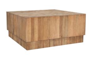Square Chevron Top Coffee Table