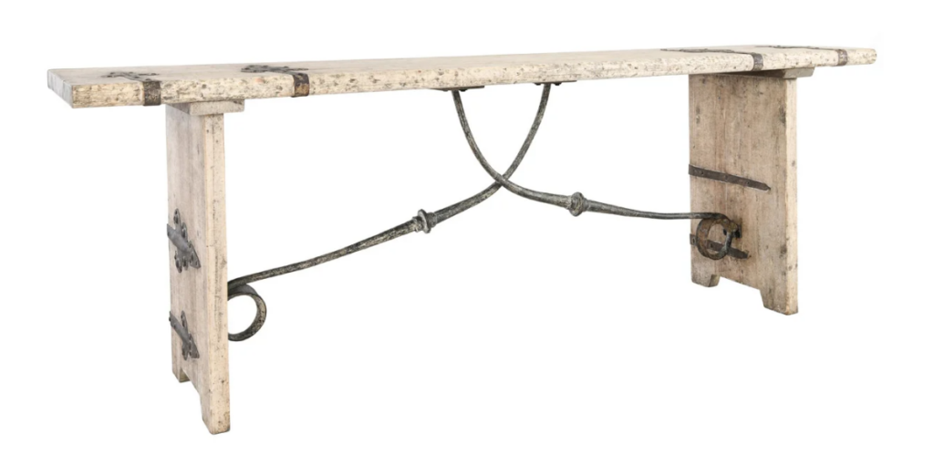 Wood & Iron Rustic Console Table