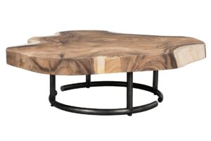 Highland Meh Wood and Iron Coffee Table