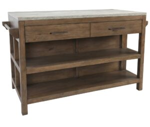 Tanner 60″ Wood and Concrete Kitchen Island