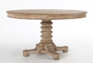 55″ Bellinger Pine Wood Round Dining Table