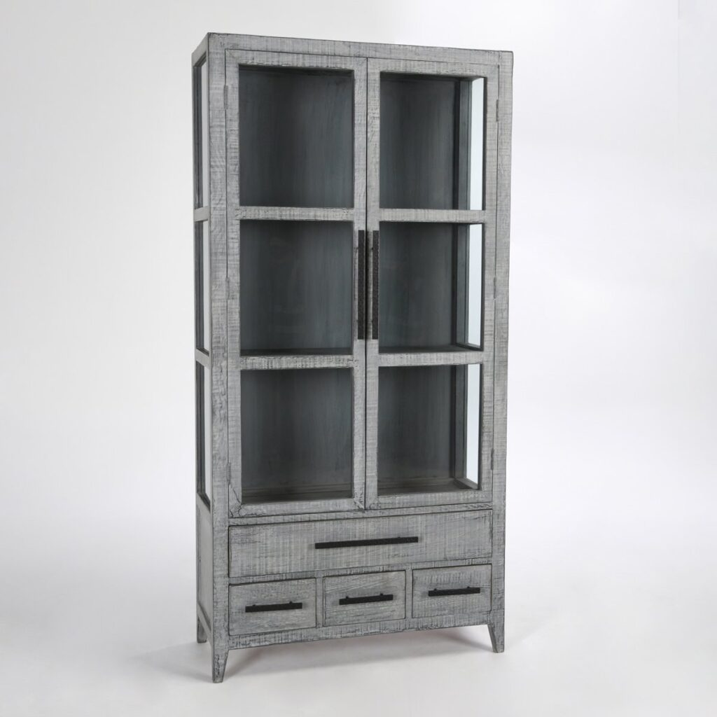 Simon Tall Antique Blue Cabinet