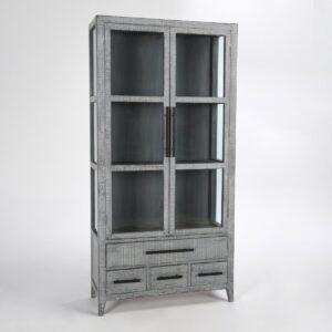 Simon Tall Antique Blue Cabinet