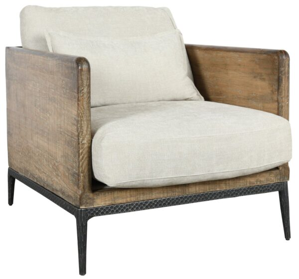 wood upholstered accent chair