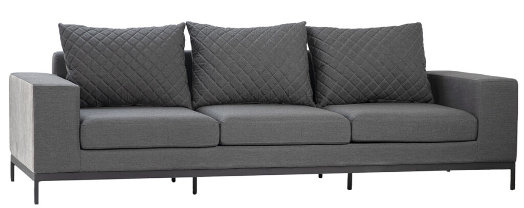 100″ Dark Grey Outdoor Sofa