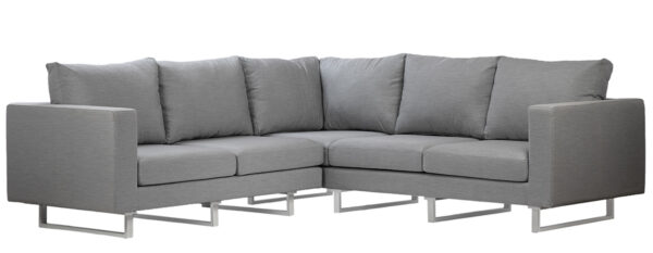 Aluminum and grey cushions outdoor sectional
