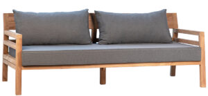 75″ Outdoor Teak Bench with Cushion