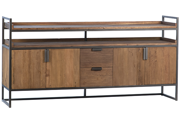 wood and iron console