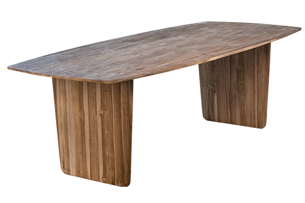 teak dining table side view