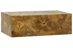 Organic Teak Root Block Coffee Table
