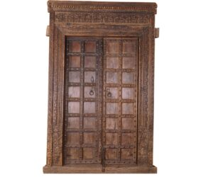 Teak Wood Vintage Doors with Frame
