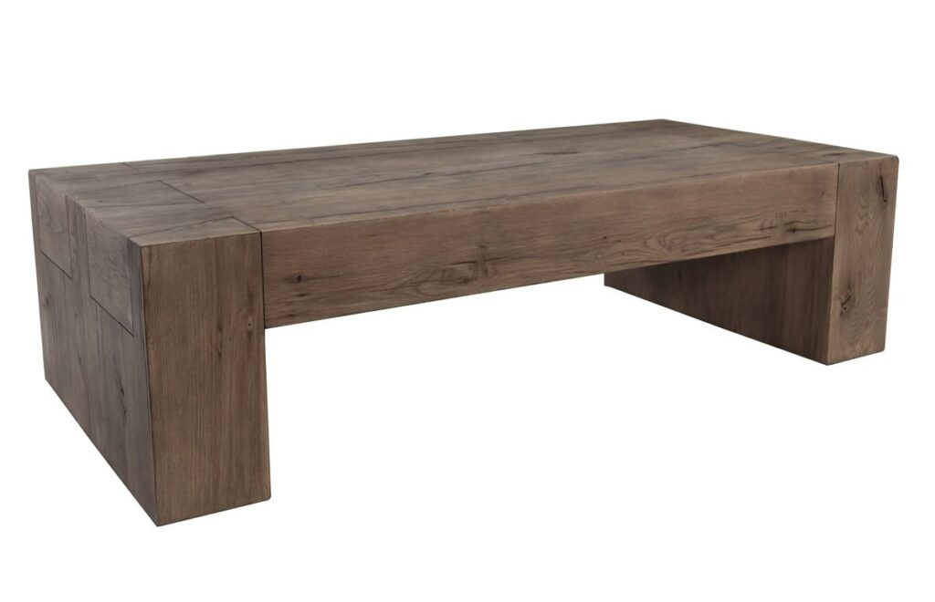 60″ Reclaimed Oak Rectangular Coffee Table