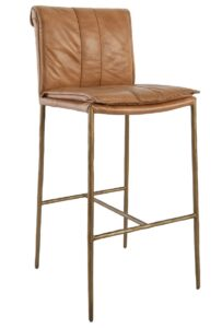 Set of 2 Tan Leather 30″ Bar Stools