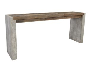 72″ Wood and Concrete Laminate Console Table
