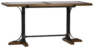 71″ Counter High Table with Stone Top