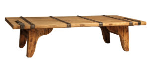 67″ Reclaimed Wood Coffee Table with Iron Detail