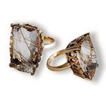 Rutilated Quartz Rose Gold Ring