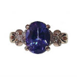Oval Tanzanite & Diamond Rose Gold Ring