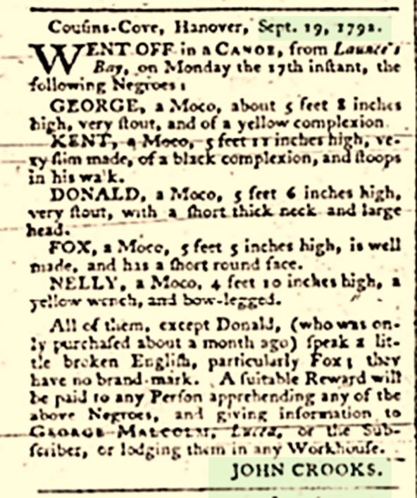 Early mention of the Crooks surname in the Caribbean