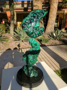 Malachite Sculpture by Leo Atkinson