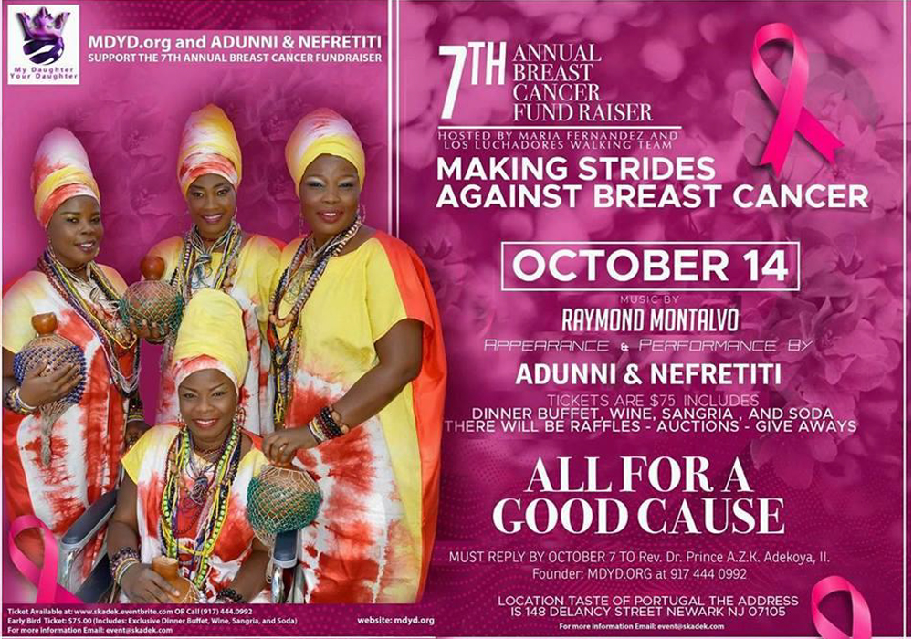 Adunni and Nefretiti Support the 7th Annual Breast Cancer Fundraiser HOSTED by Maria Fernandez and Los Luchadores Walking Team