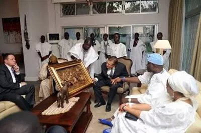 Ooni Of Ife Hosts American Delegates At His Palace In Osun State.