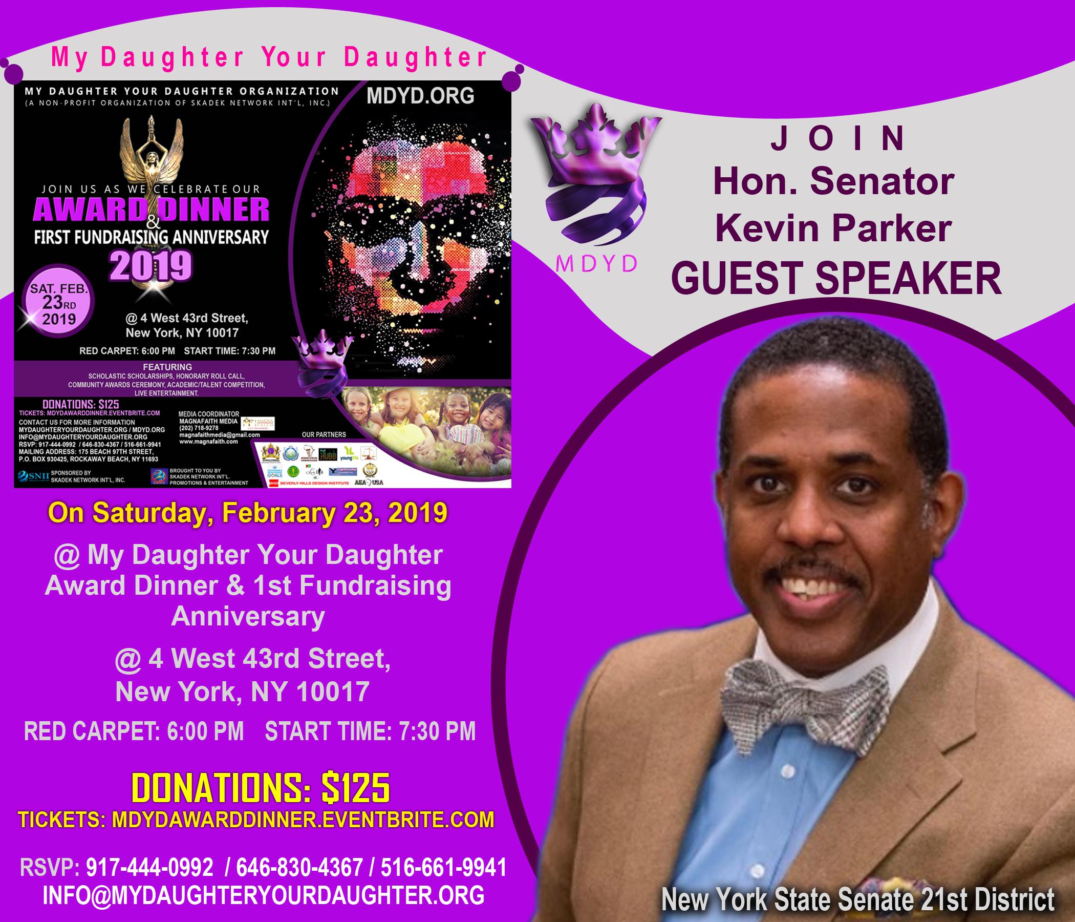 MDYD Promo Card - Hon. Senator Kevin Parker