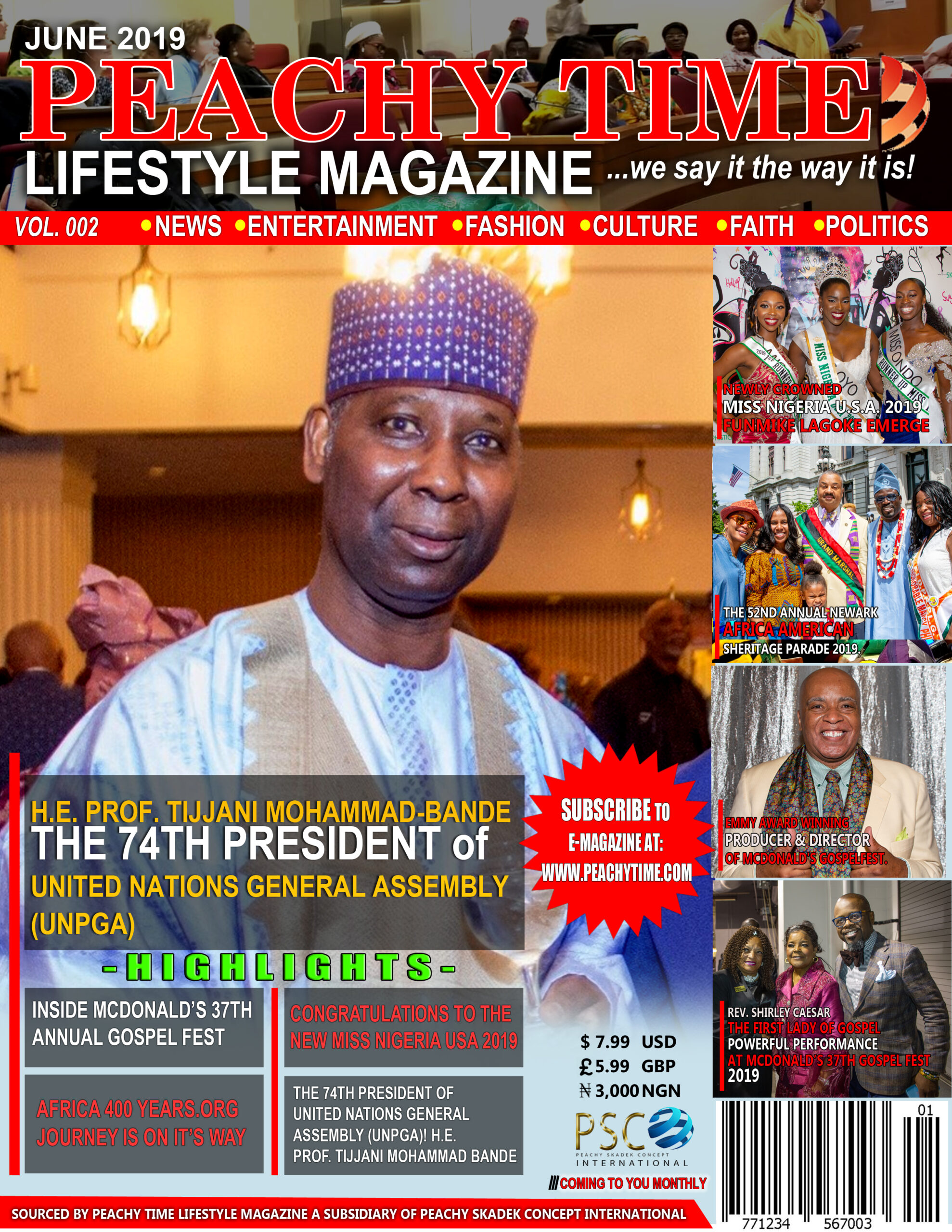 PEACHY TIME LEFESTYLE MAGAZINE COVER SAMPLE - B