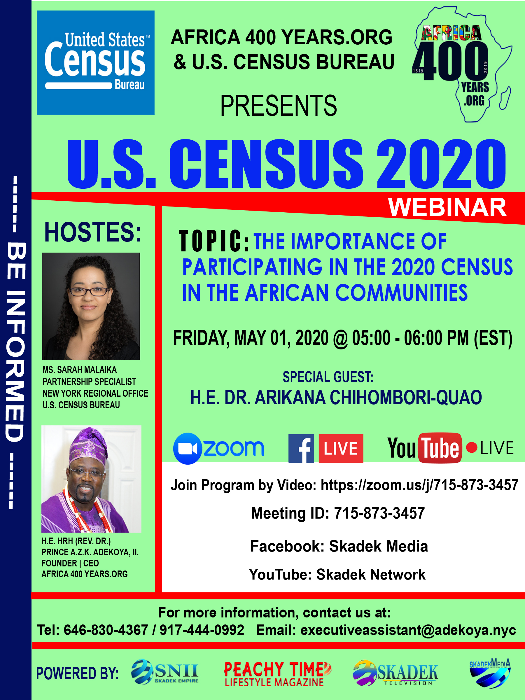 AFRICA 400 YEAR 2020 CENSUS WEBINAR