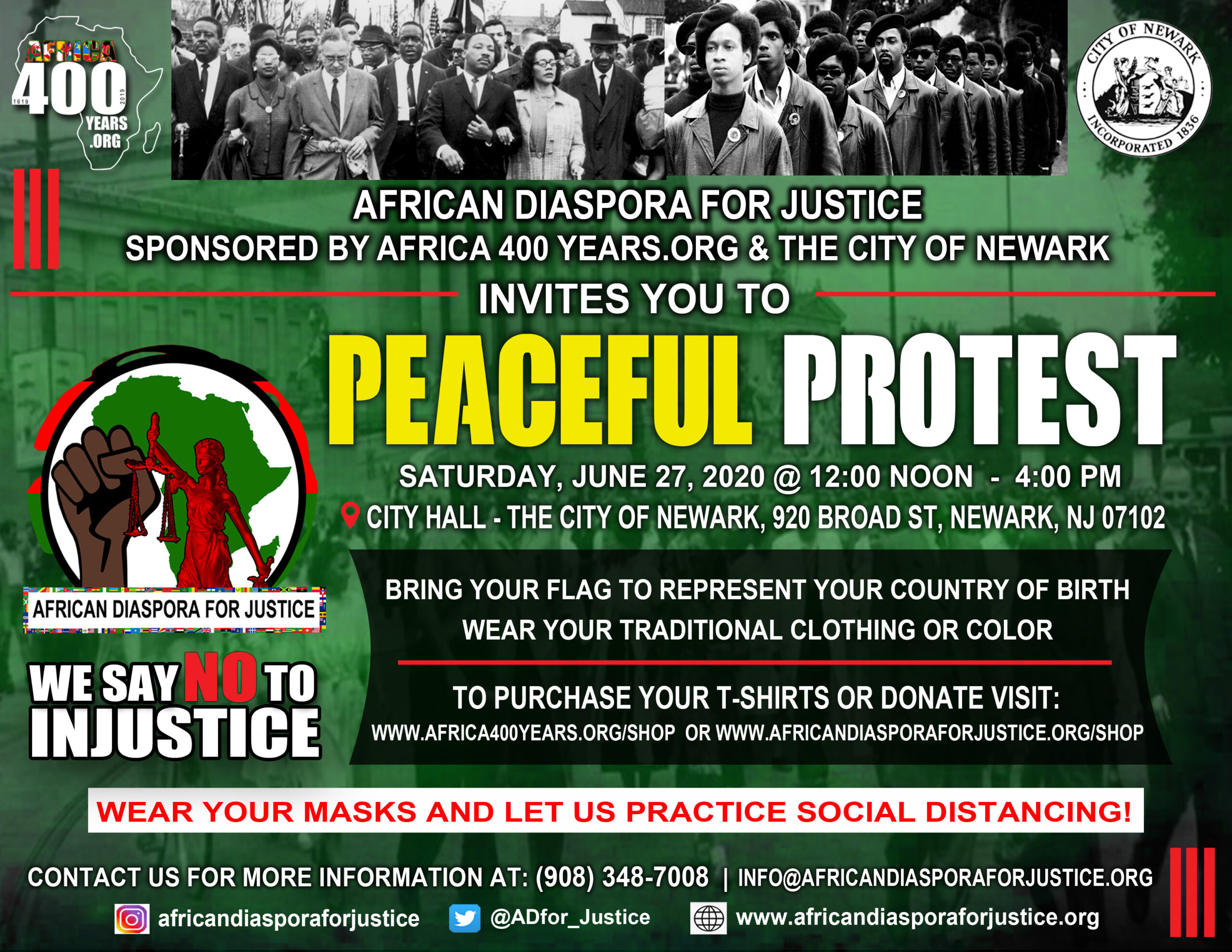 AD4 JUSTICE PEACE PROTEST FLYER