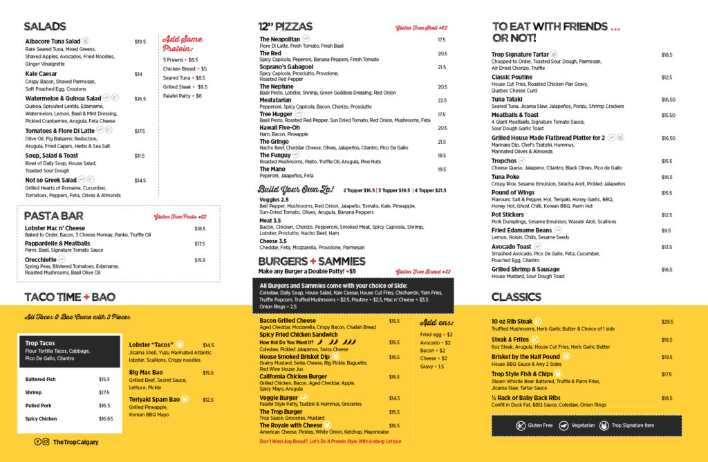 The Trop Menu 2