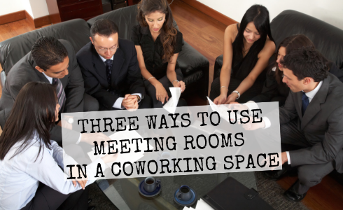Meeting rooms in coworking space