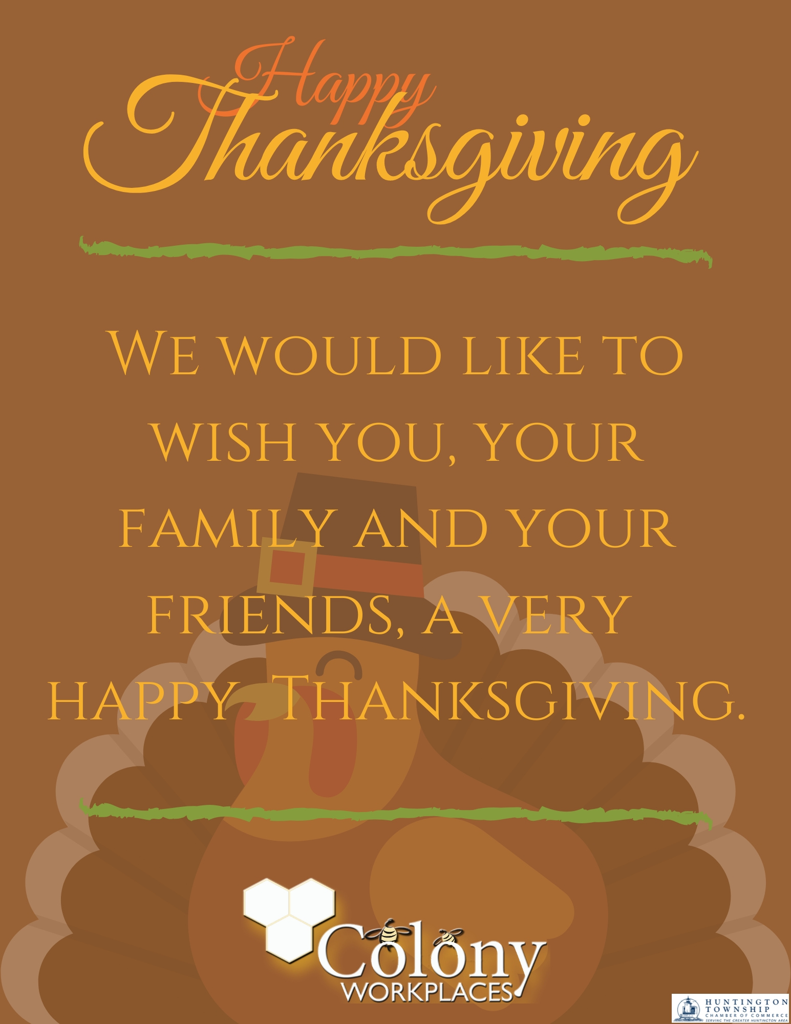 Happy Thanksgiving from Colony Workplaces