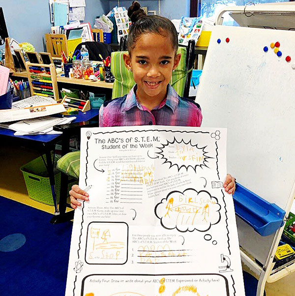 The ABC's of STEM Student of the Week Program from Karyn Burns ABCs Student Smiles