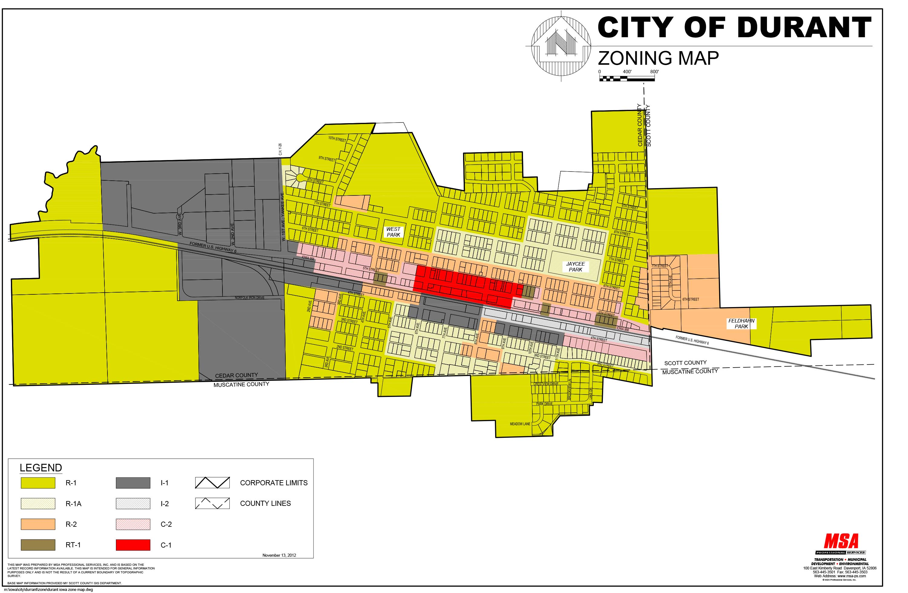 Click to Download Zoning Map