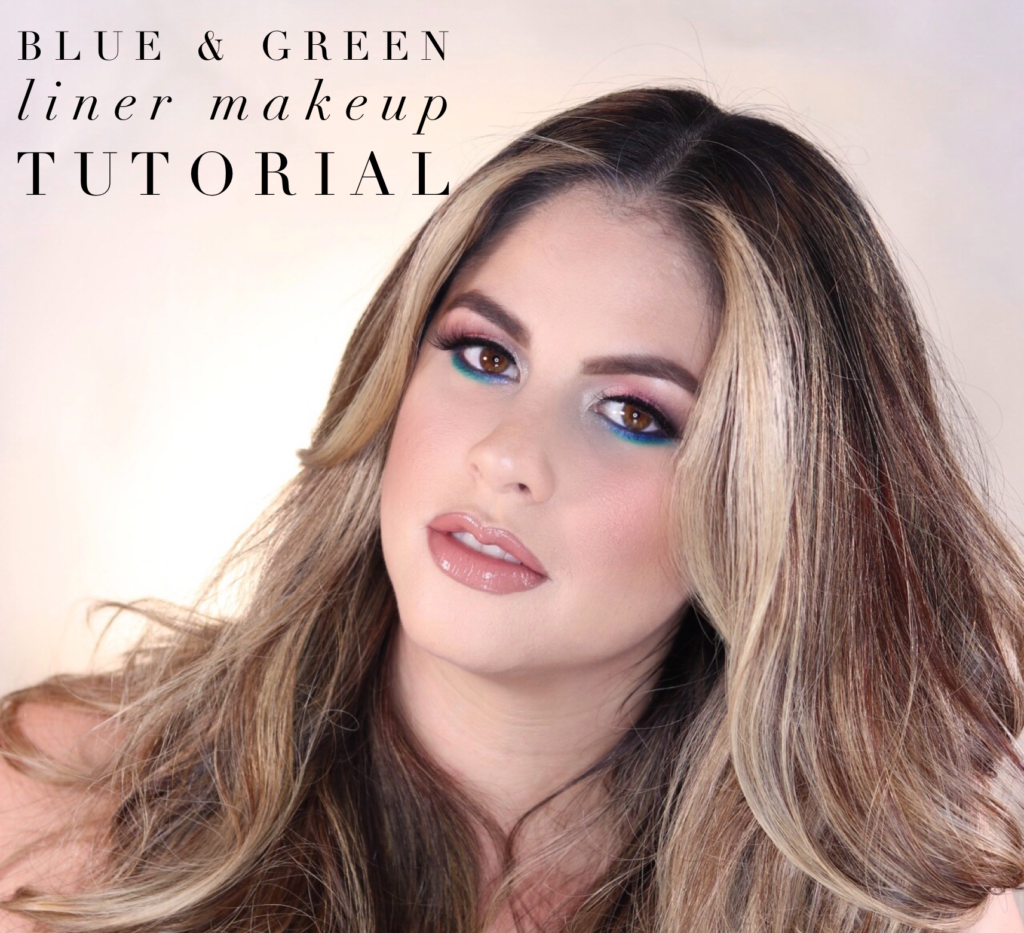 green blue liner tutorial jess bonilla