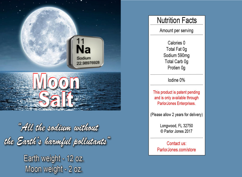 Parody TV commercial about the benefits of Moon Salt
