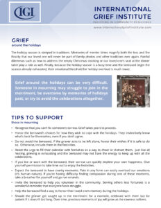 Holiday Tips for Supporters