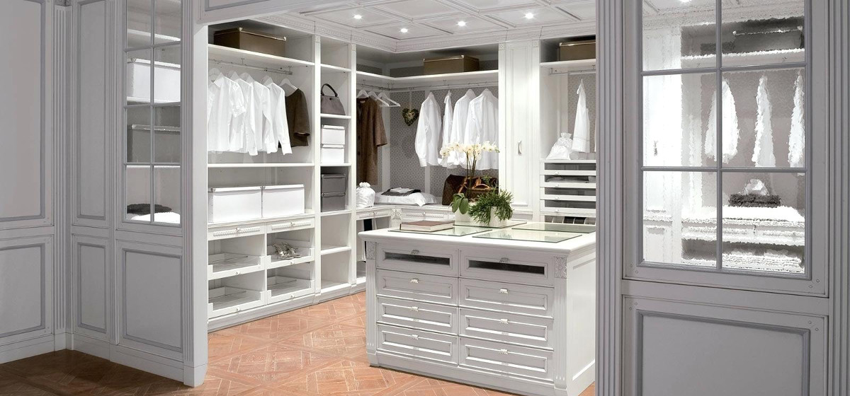 White Professionally Organized walk-in Closet