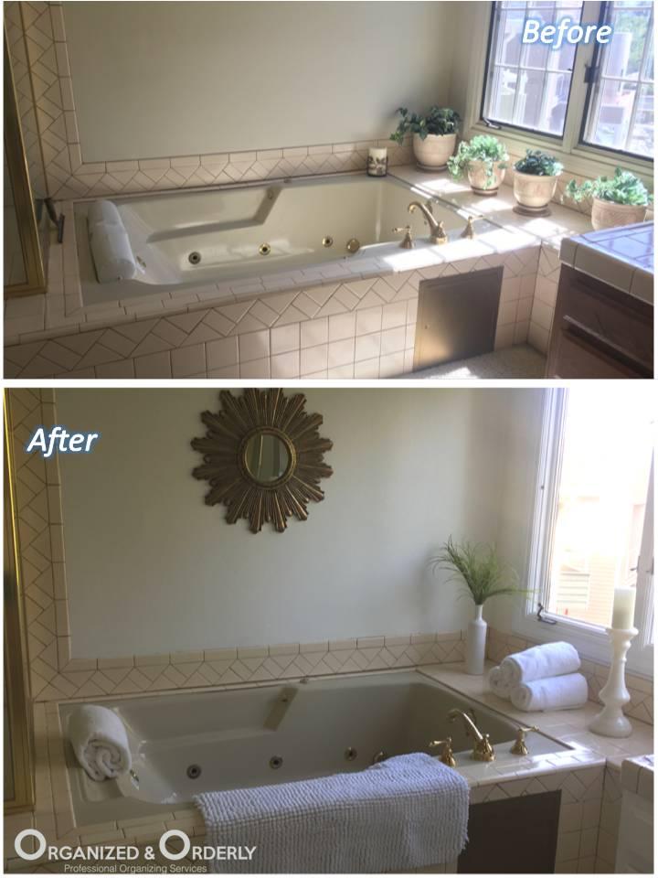 Bathroom Staging Organization