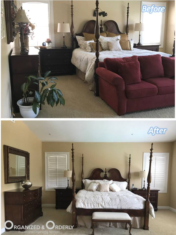 Bedroom Staging Before and After