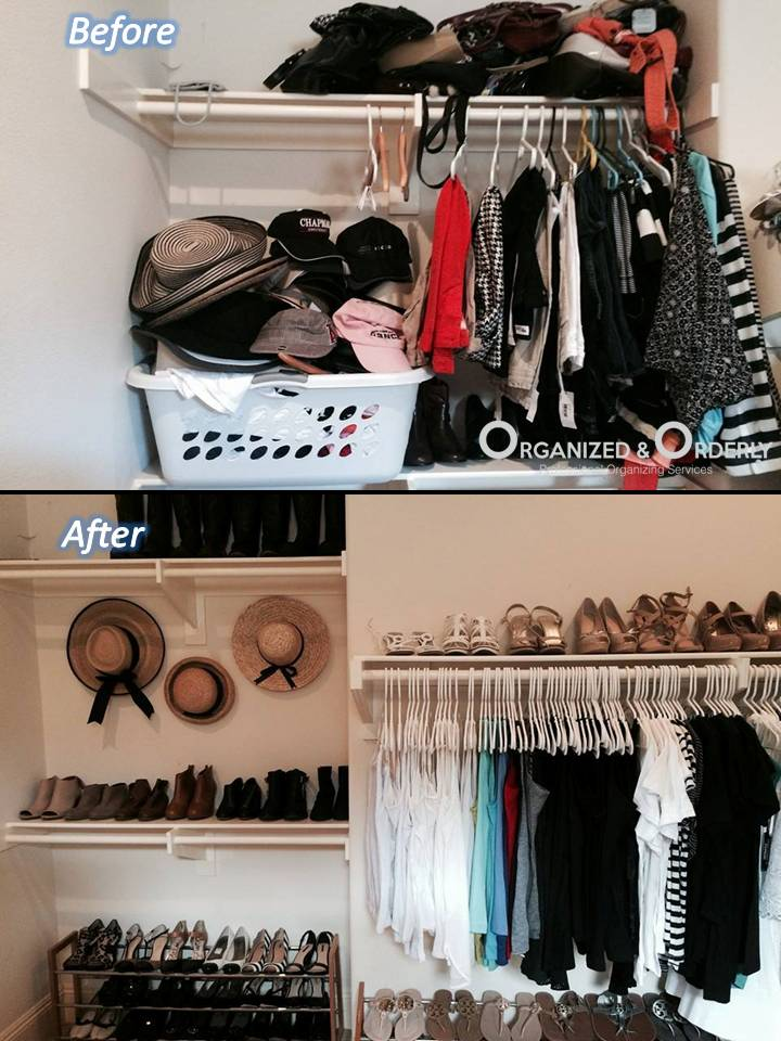 Closet Organization Before and After