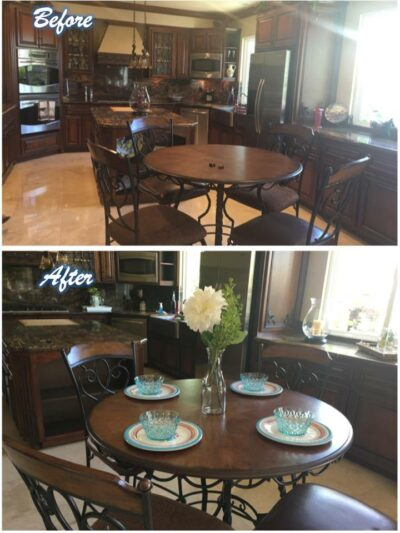 Dining Room Staging Before and After