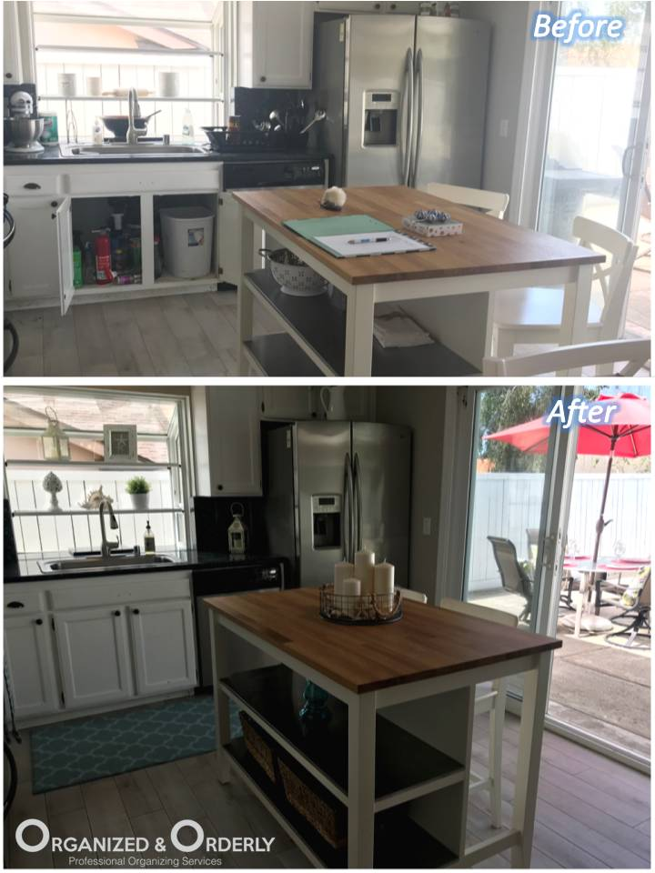 kitchen counter staging