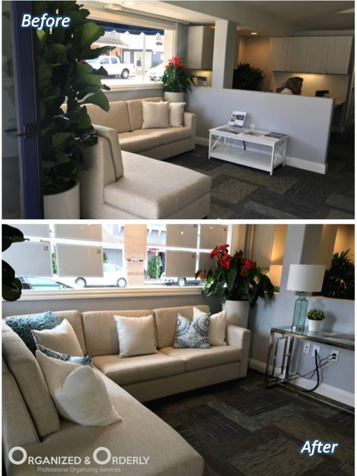 Living room organization