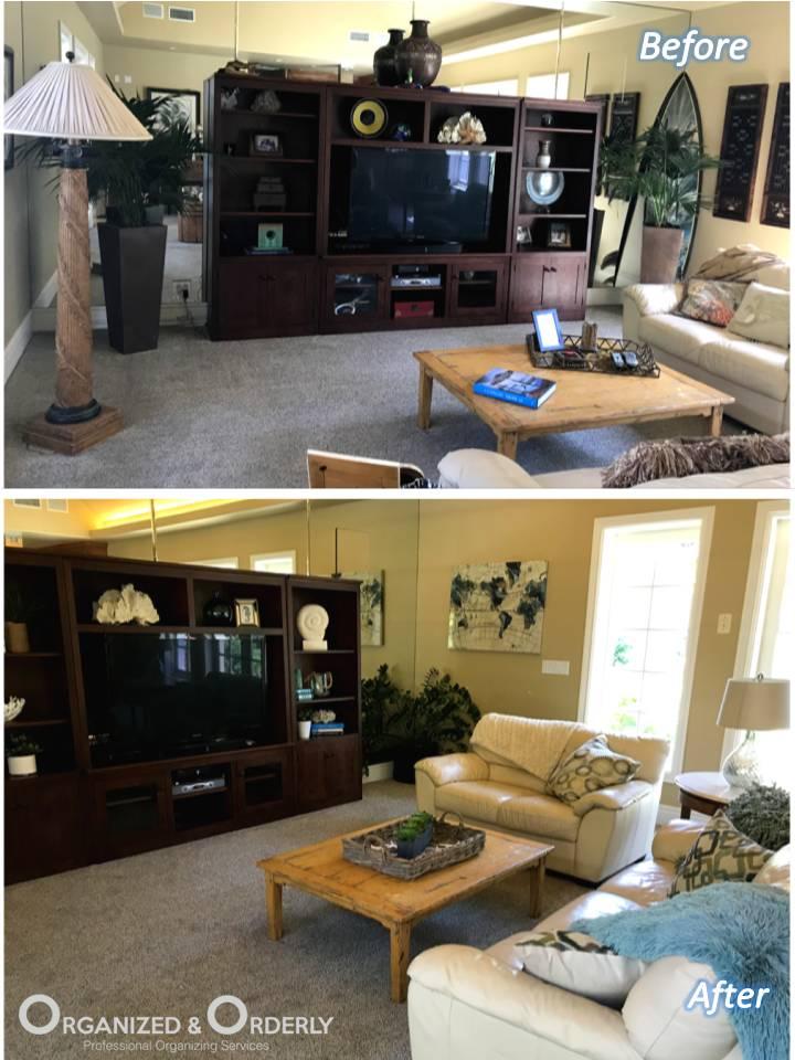 Living Room Staging