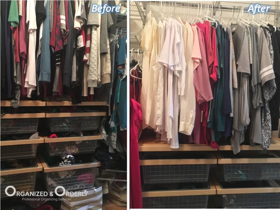 Professional closet staging