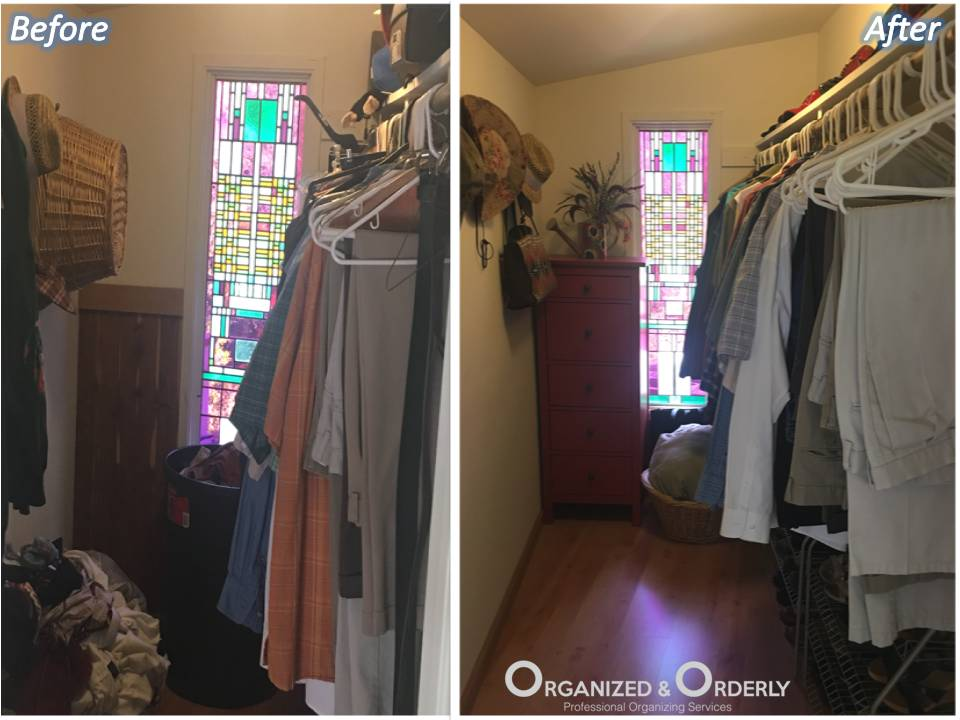 Professional closet staging